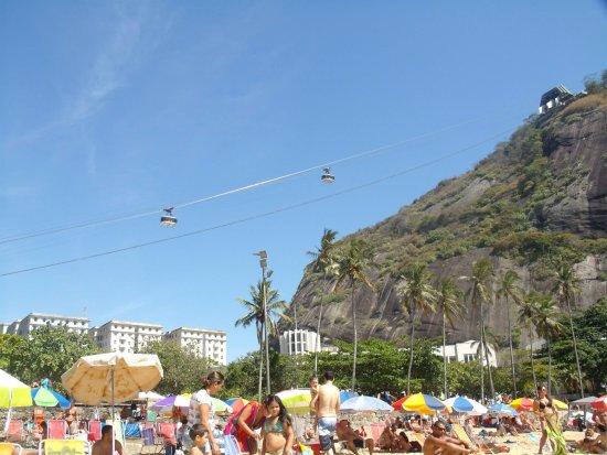 Abajo la playa arriba el Funicular y ver la belleza de Rio