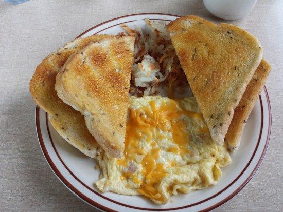Loa, UT: Smaller appetite cheese omelet with 1 egg - YUM