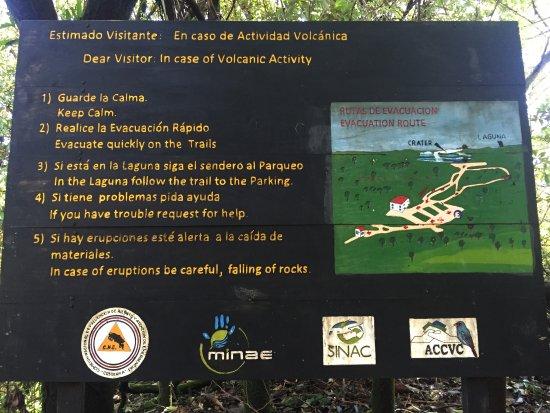 Poas Volcano National Park, คอสตาริกา: Sign