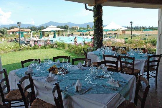 la terrazza del ristorante Pizzeria La Maremma - Picture of ...