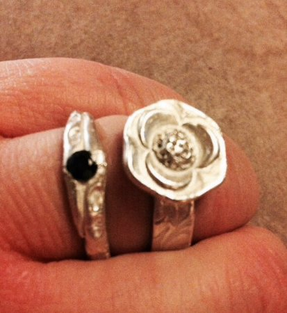 Riccall, UK: The rings I made with Helen.