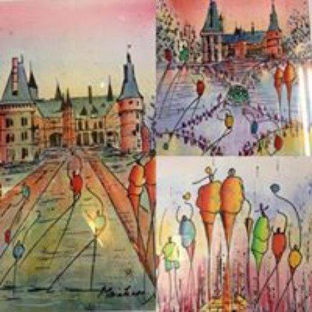 Crêperie Fleur de Blé : Tableau de l'artice peintre Monsieur Magie