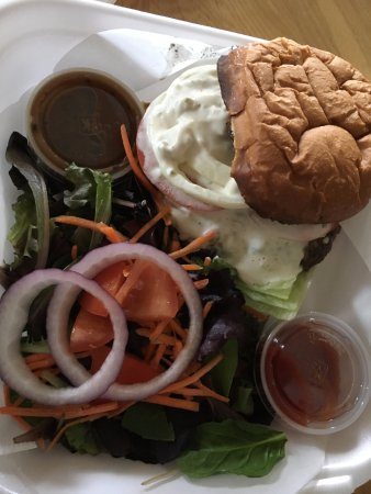 Gilbert, AZ: Take Out Blue Cheese Burger with Salad!