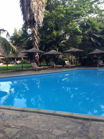 """Arumeru River Lodge: The pool was relaxing. There was a """"pool house"""" next to it with restrooms and a changing area."""