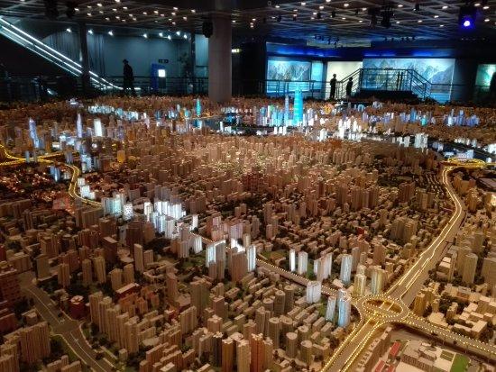 Shanghai Urban Planning Exhibition Hall: Maquette de la ville de Shanghai!