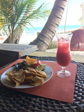 Matachica Resort & Spa: Chips & guac- not on the menu, but they do everything they can to accommodate any request!