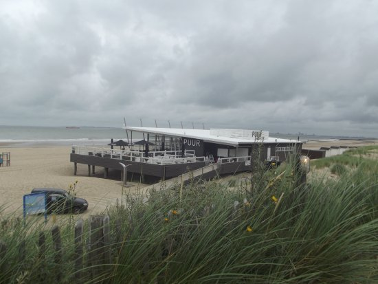 Strandpaviljoen PUUR : Wunderbar gelegen direkt am Strand. Paradisiesch!