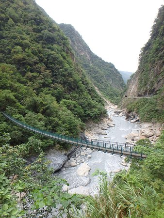 Hualien, Taiwan: bridge over river in national park