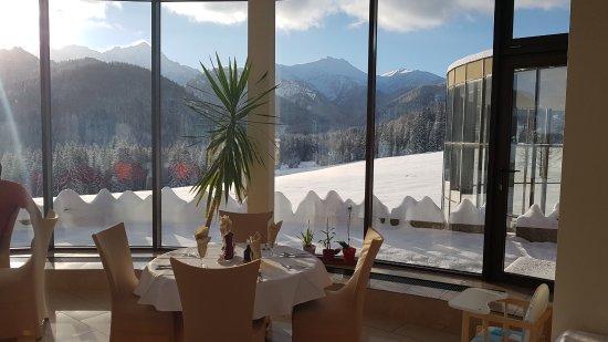 Tatranska Javorina, Eslovaquia: Kilátás az éttermből...