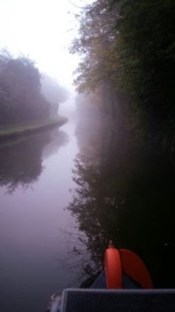 Lymm, UK: an early misty morning