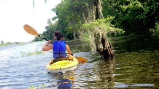 Marrero, หลุยเซียน่า: Kayaking friends from up north enjoyed the peach and quiet