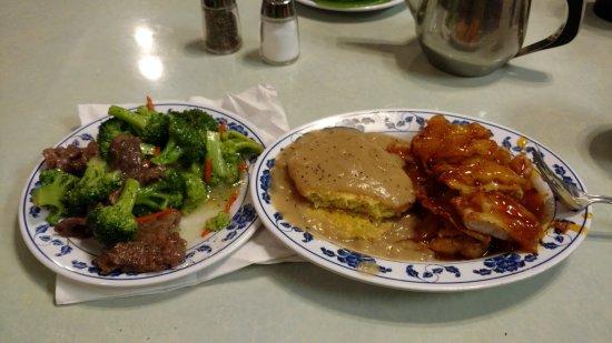 Fruitland, ID: Beef Broccoli, Egg Foo Young and Spicy Mandarin Chicken. Very Good!