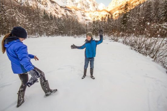 Solcava, Slovenia: Fun in the snow!