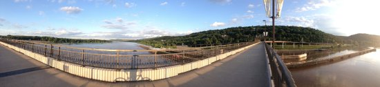 Riverfront Park: Panorama of Big Dam Bridge viewing East/SE after flooding in 2016