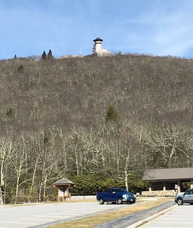 Blairsville, GA: We can see this observation tower from our home in North Carolina. It's almost an hours drive.