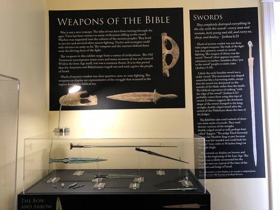 Pikeville, KY: A weapons display in the Iron Age room.