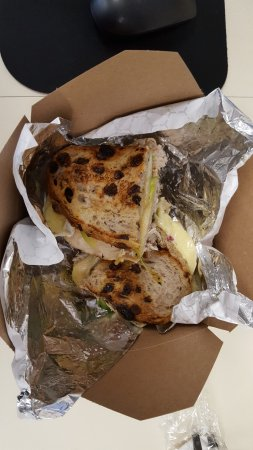 Winnetka, IL: Ooey, gooey warm Turkey & Brie, delish!