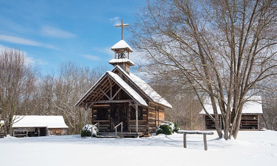 Ferguson, Carolina del Norte: Whippoorwill Chapel of Peace Exterior - Snow Covered