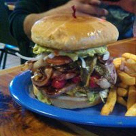Clint, TX: Mexican Burger!