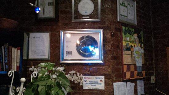 Le Souffle French Bistro - Brasserie: Impressive awards