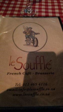 Le Souffle French Bistro - Brasserie: The menu