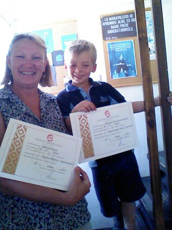 Bariloche Spanish Lessons: Kate and Harry spent 2 weeks at BSL, she focused on Medical Spanish and he made his first steps