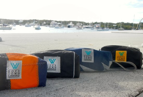 Hope Town, Elbow Cay: One of a kind Sail bags