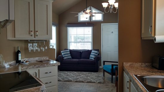 Sherrills Ford, Kuzey Carolina: Tiny House Kitchen & Living Room