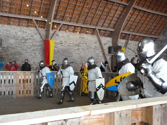 Kloster Graefenthal: The large barn was the venue for the tournament.