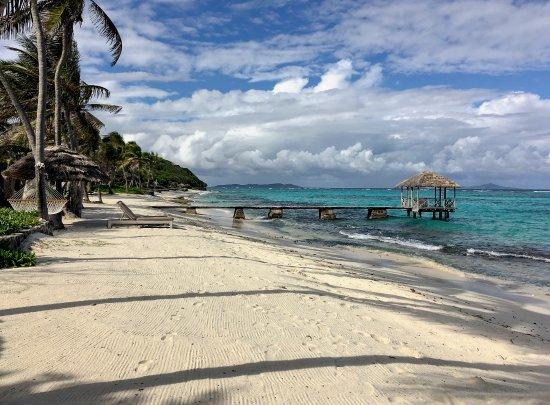 Petit St.Vincent: our beach view