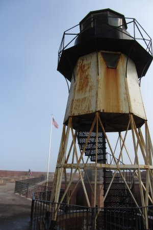 Fort Point National Historic Site: Fort Point Light up close and personal.