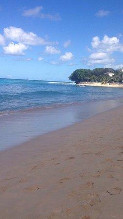 Saint James Parish, Barbados: Paynes bay beach very nice sunset from Jerry