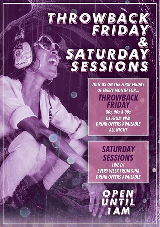 Ashby de la Zouch, UK: Friday & Saturday nights open until 1am!!