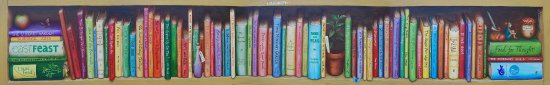 Halesworth, UK: Wonderful mural inside the Library by Meraylah Allwood (librarian)