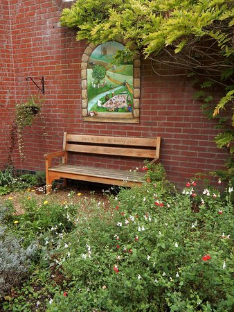 Halesworth, UK: Library Garden - a pleasant spot to relax with a book or a cuppa