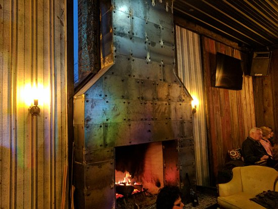 Jamestown, PA: The fireplace at Mortals Key Brewing