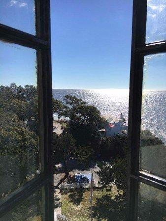 Saint Simons Island, GA: From a lighthouse window on the way to the top