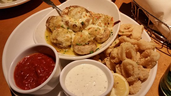 olive garden stuffed mushrooms and calamari appetizer - Olive Garden Stuffed Mushrooms