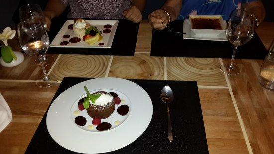 L'o a la bouche : Nougat glacé, crème brûlée et fondant chocoat