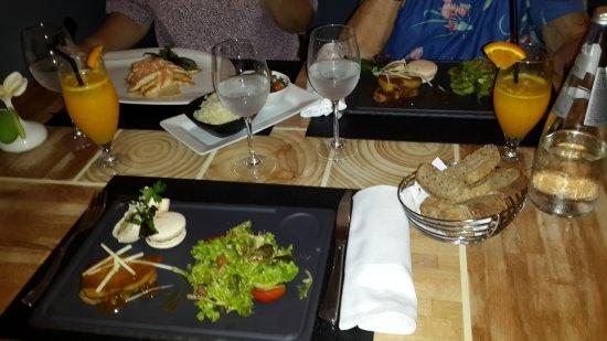 L'o a la bouche : Gougette de saumon des dieux et fumé et macaron de foie gras