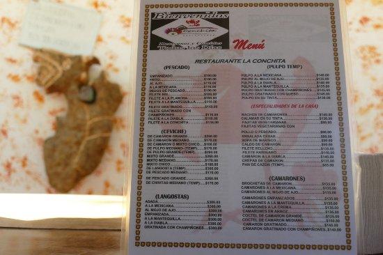 El Cuyo, Meksyk: menu