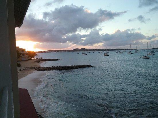 Le Beach Hôtel: Coucher de soleil