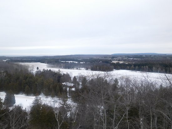Washington Island, WI: Winter View from the Top