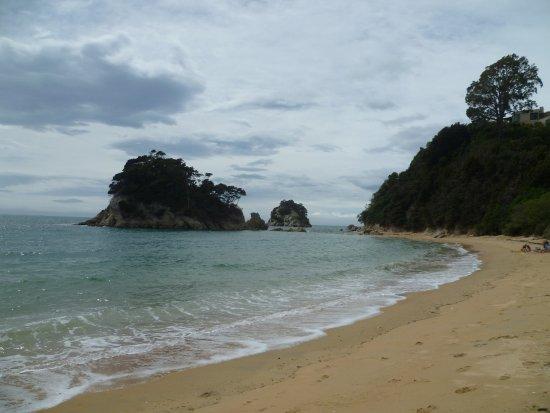 On the Beach at Tasman Bay Kaiteriteri looking east.