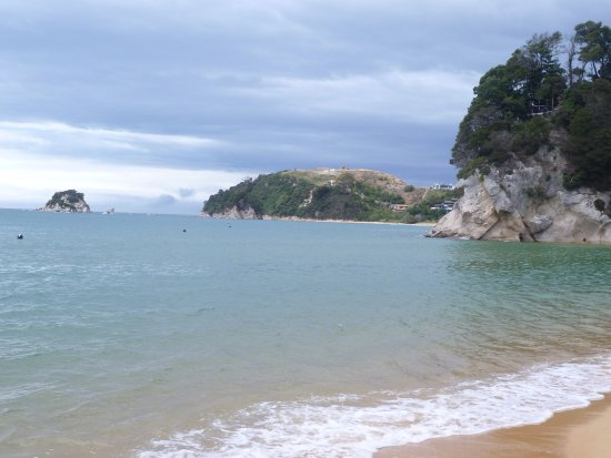 On the Beach at Tasman Bay little Kaiteriteri looking east.