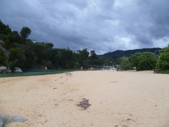 On the Beach at Tasman Bay Kaiteriteri looking east is the inlet.