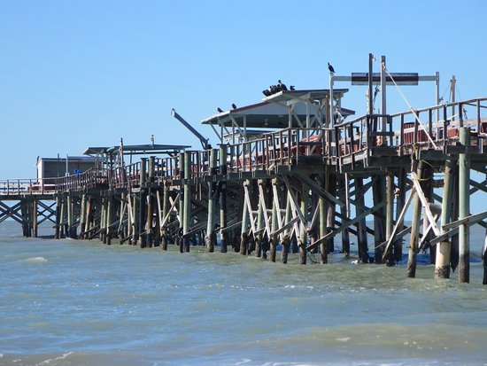 North Redington Beach, FL: The Long Pier, not in the best of shape and costs $5 to walk out on