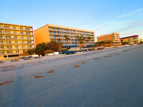 View of the Doubletree North Redington Beach from the beach