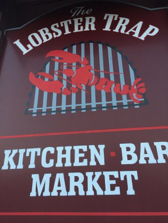 Bourne, MA: Lobster Trap Sign