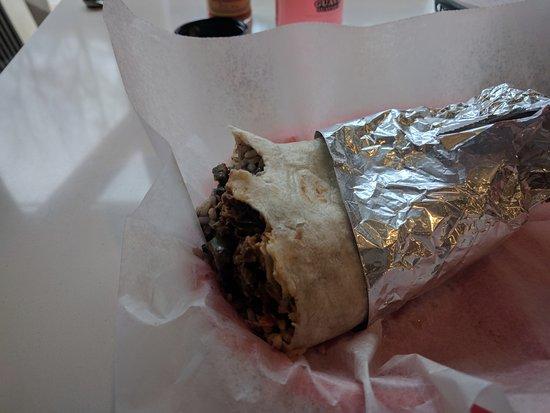 Media, PA: pork burrito al pastor